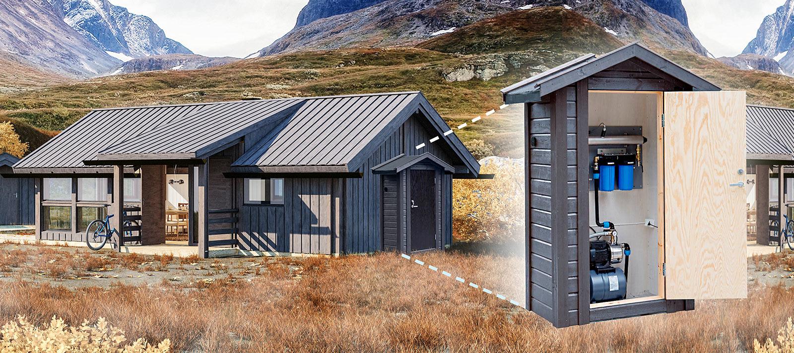 Unikwater-vannrensing-hytte